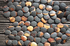 Matte Wonder Stone 34-41mm freeform beads (ETB00497)