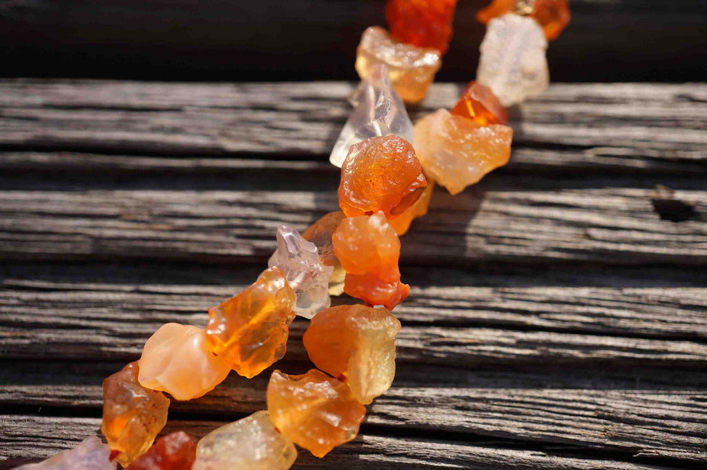 Fire Opal A grade natural rough beads  (ETB00208)