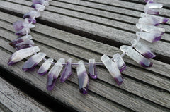 Bio Amethyst medium unshaped beads (ETB00052)