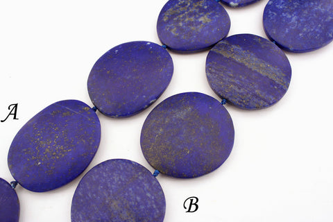 Matte Lapis Lazuli freeform beads  (amazing blue colour with gold sparkles) (ETB01151)
