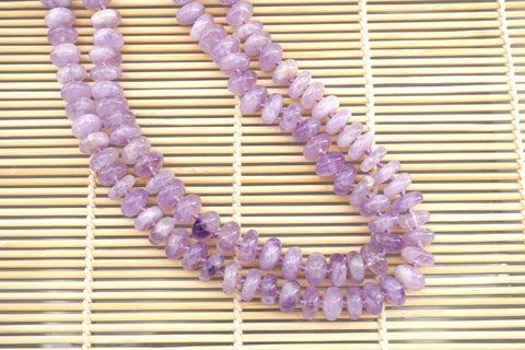 Natural Lavender Amethyst (Madagascar) 11-12mm rondelle beads (ETB01317)