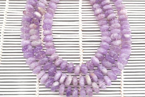 Natural Lavender Amethyst (Madagascar) 12-13mm rondelle beads (ETB01318)