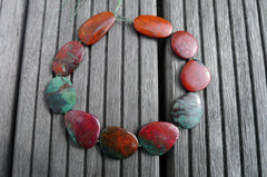 (SPL00036) Sonora Sunrise Sunset stone organic freeform flat beads (large)