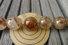 (SPL00125) Rutilated Quartz 15-16mm round beads