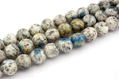 Rare K2 Blue 8-8.5mm Round beads (ETB01173)