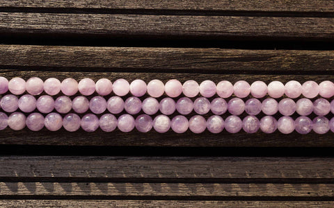 Lavender Amethyst 11-12mm round beads from Madagascar (ETB00318)