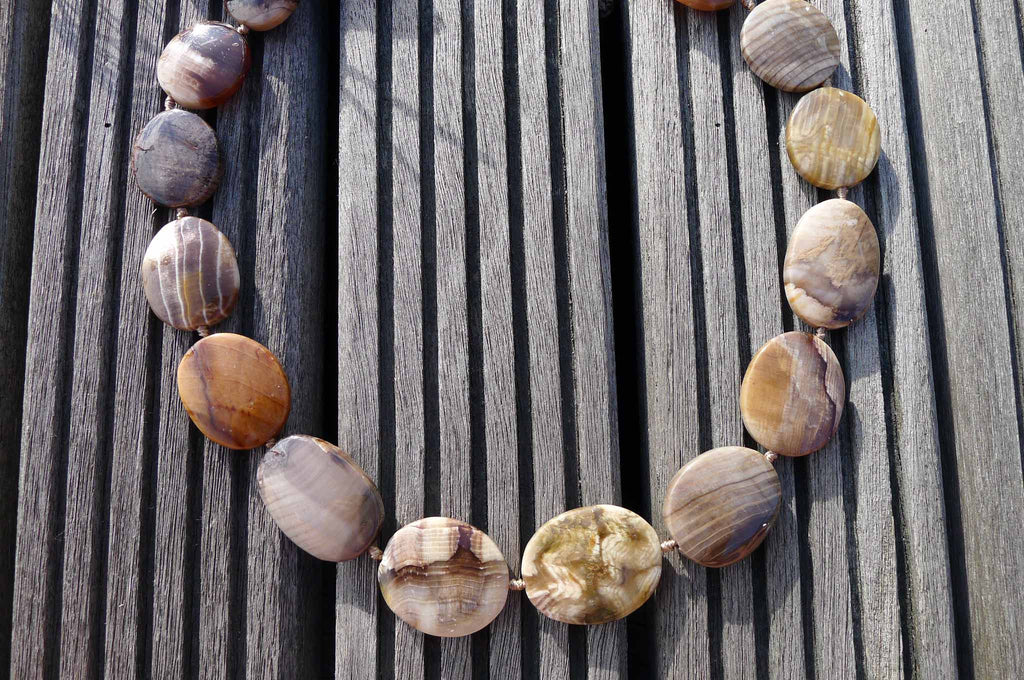 Wood Opalite/ Petrified Wood 20-27mm freeform beads (ETB00325)
