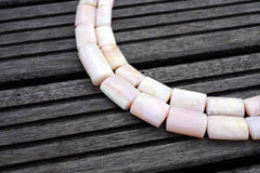 Pink Opal 9-16mm Nibblet (rectangle tube) beads (ETB00460)