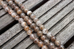Cacoxenite Quartz 7-8mm round beads (ETB00451)