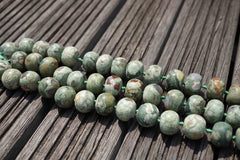 Rainforest Rhyolite (matte) 18.5-21mm rondelle beads (ETB00364)
