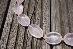 Rose Quartz (Madagascar) 13-18mm faceted beads (ETB00467)