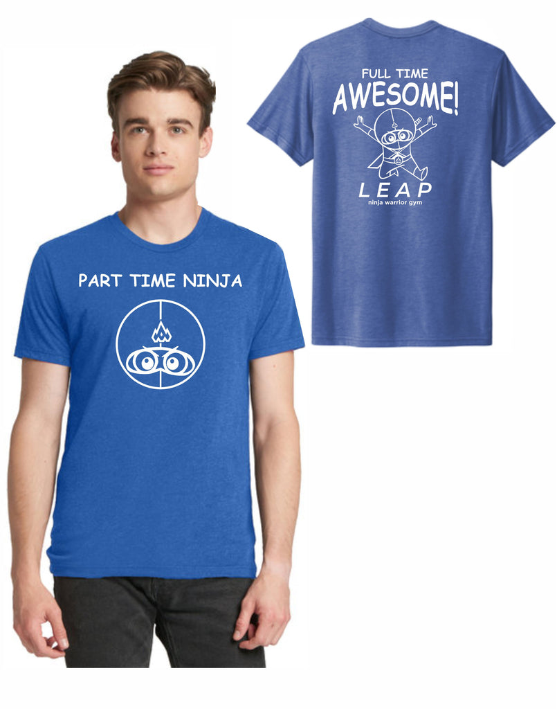 B3 - Part Time Ninja T (Vintage Royal) - Front and Back Print