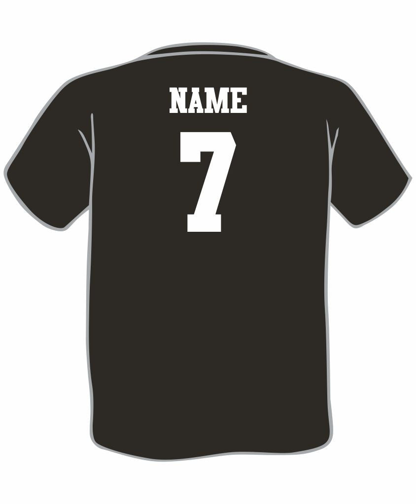 I - Add Name and Number to T-Shirt