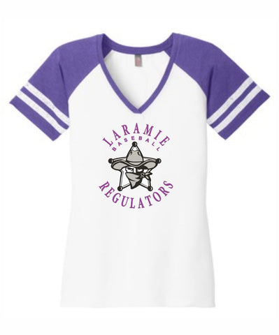 D - Laramie Regulators District Made® Ladies Game V-Neck Tee.