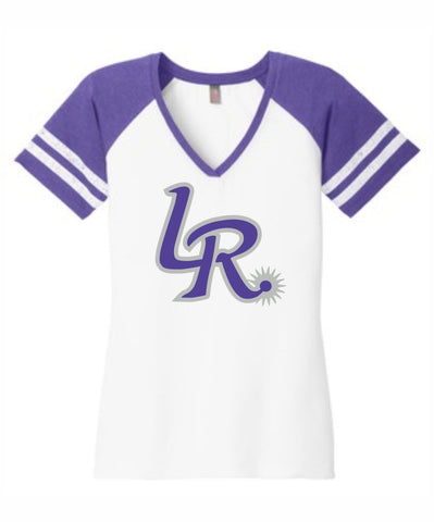 D1- Laramie Regulators District Made® Ladies Game V-Neck Tee.