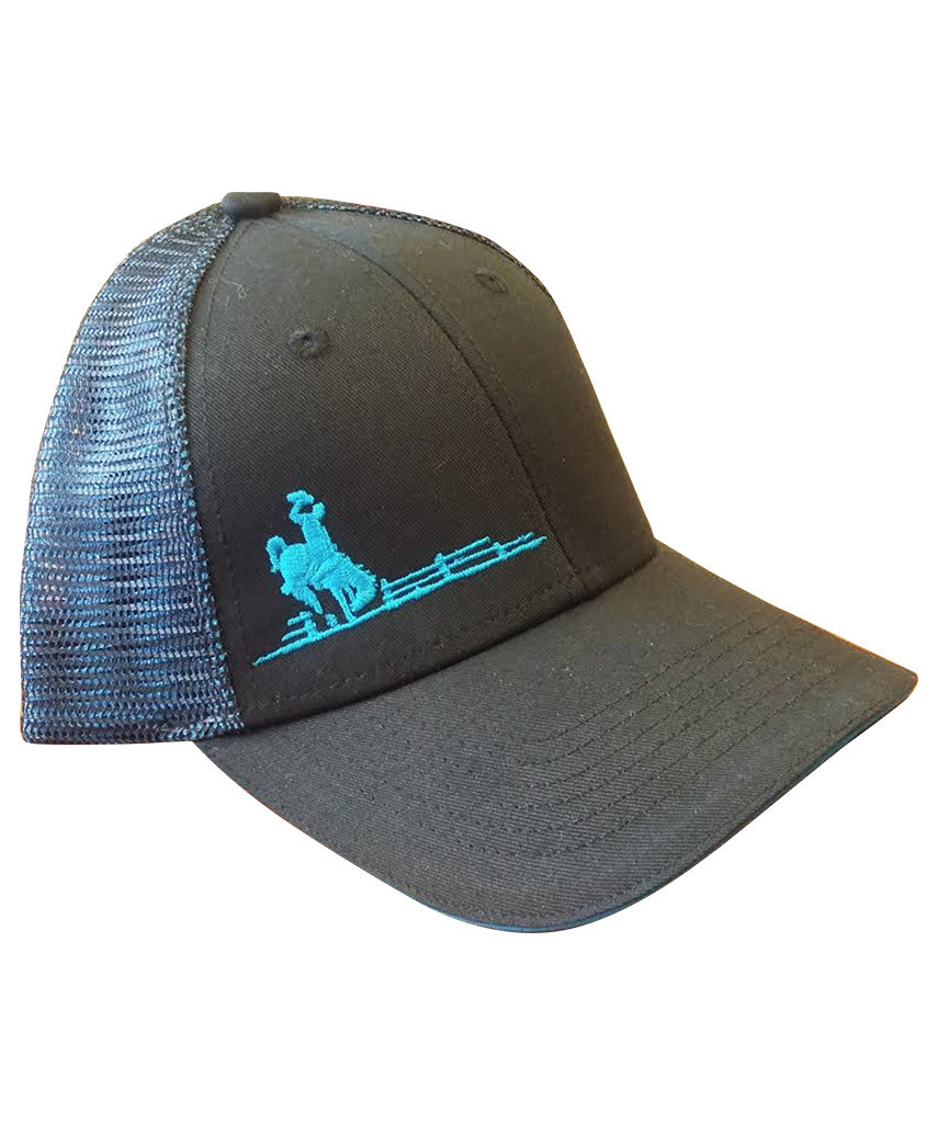 H040 Wyoming Pride Hat - Blue Accent