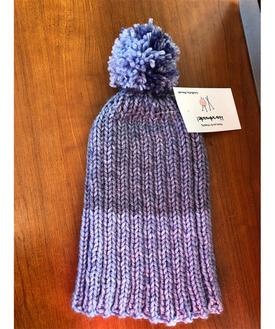 H104 - Blue Knitted Adult Stocking Cap