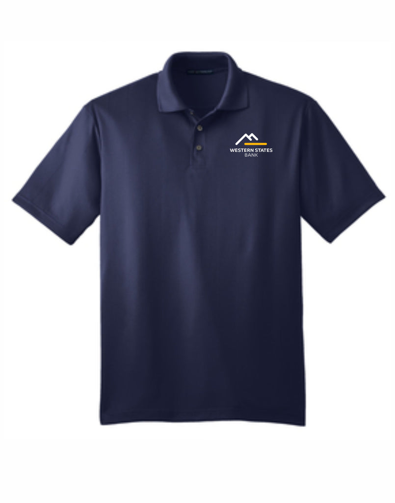 F - WSB Mens Short Sleeve Polo - Navy