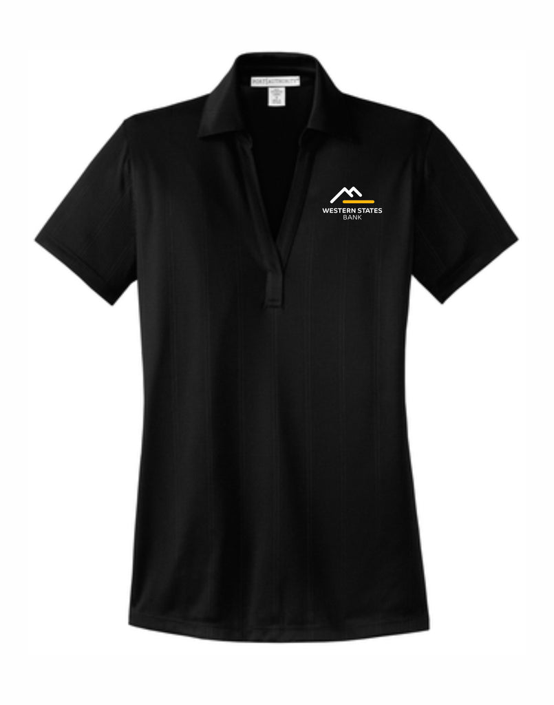 C - WSB Ladies Short Sleeve Polo - Black