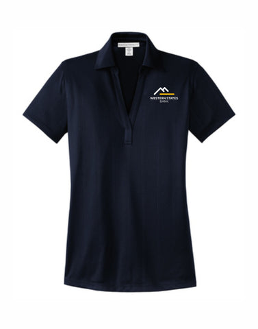 E - WSB Ladies Short Sleeve Polo - Navy