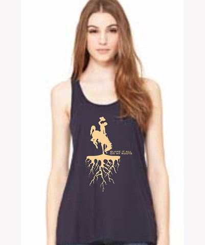 TA004 Roots Racer Back Bella Tank Top - Blue
