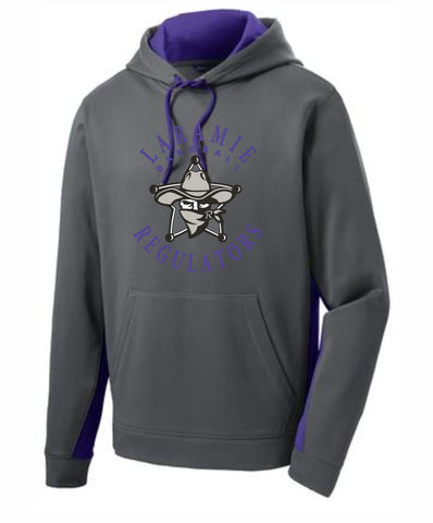 G - Laramie Regulators Sport-Tek® Sport-Wick® Fleece Colorblock Hooded Pullover