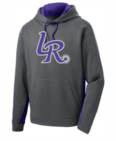 G1 - Laramie Regulators Sport-Tek® Sport-Wick® Fleece Colorblock Hooded Pullover