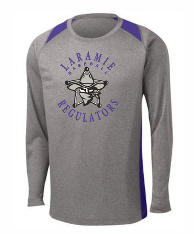 F - Laramie Regulators Sport-Tek® Long Sleeve Heather Colorblock Contender™ Tee