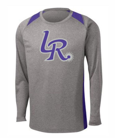 F1 - Laramie Regulators Sport-Tek® Long Sleeve Heather Colorblock Contender™ Tee