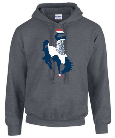 HD008 Wyoming Bucking Horse Hoodie