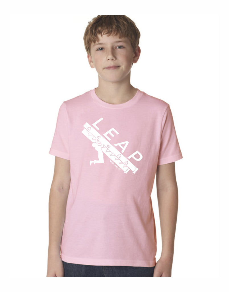 G4 - Leap Stair Youth T (Light Pink)