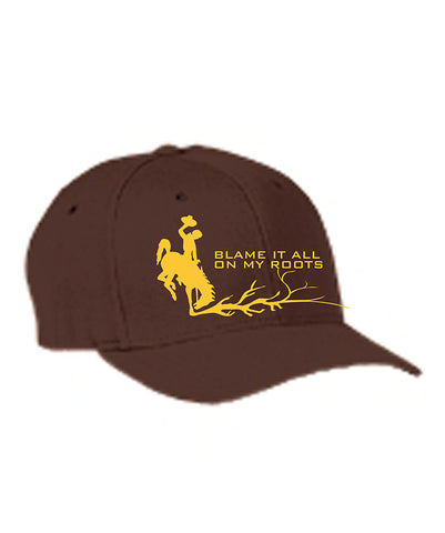 H018 Roots - Brown Flexfit BH Hat
