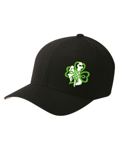 H007 Buckin' Irish Flex Fit Hat - Black
