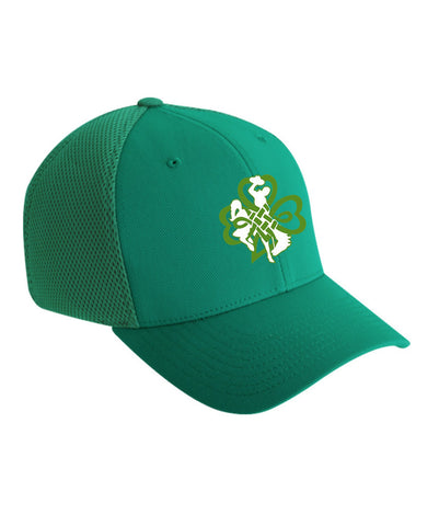H008 Buckin' Irish Flex Fit Hat - Green