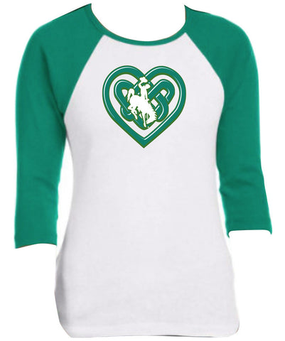 R002 Buckin' Irish - Celtic Heart Raglan
