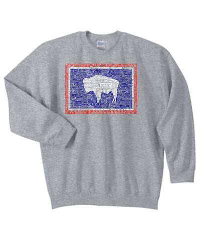 C001 Wyoming Hometown Crew Neck