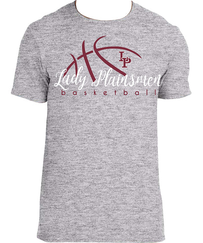 A - Lady Plainsmen Basketball Gray T-Shirt