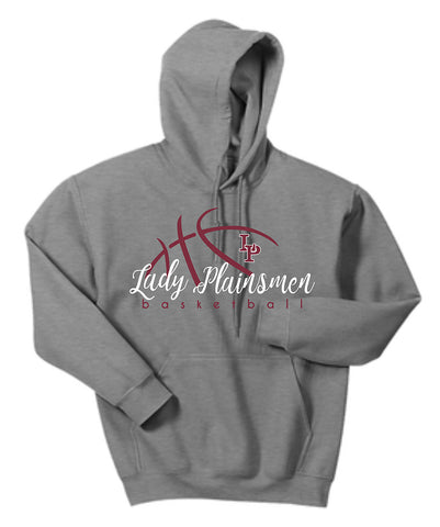 C - Lady Plainsmen Basketball Gray Hoodie