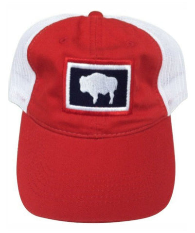 H044 Wyoming State Flag Hat - Red