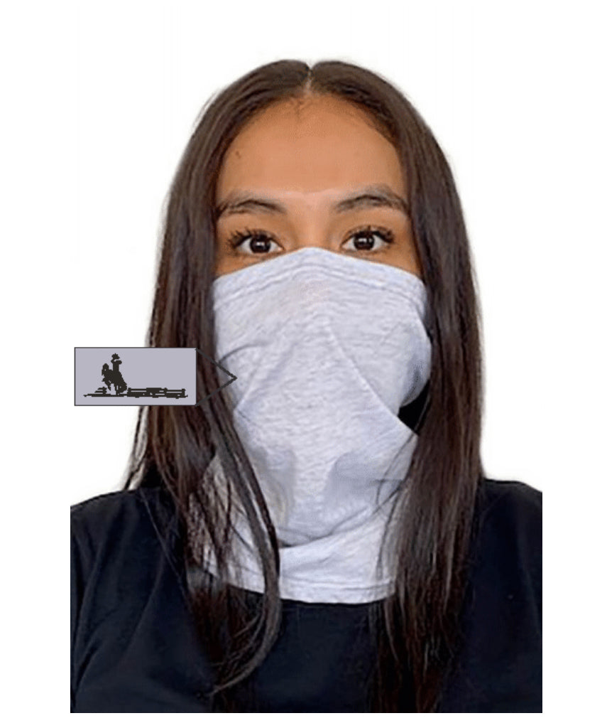 Fence Next Level  Adult Neck Gaiter Heather White