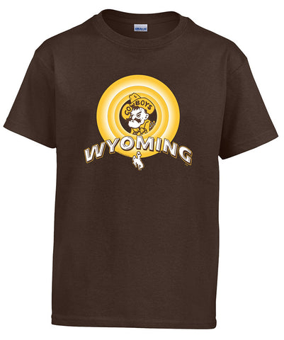 T036 Youth Looney WY Shirt - Brown