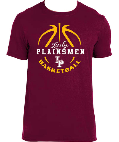 B - Lady Plainsmen Basketball Maroon T-Shirt