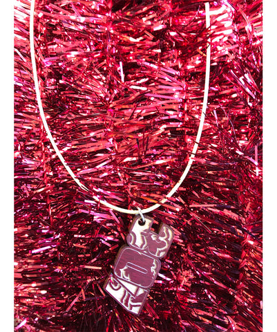 AS024 307 - Wood Necklace (Red)