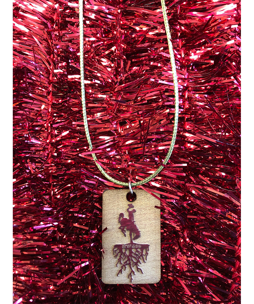 A021 Roots - Wood Necklace (Red)