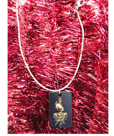AS022 Roots - Wood Necklace (Black)