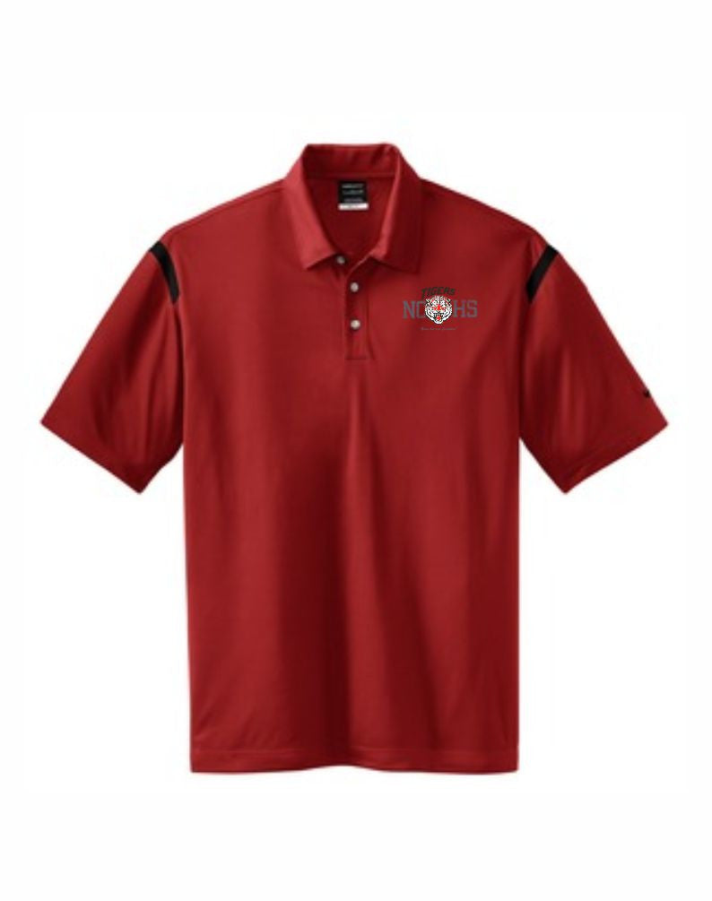 G - Men's Nike Golf - Dri-FIT Shoulder Stripe Polo - Red