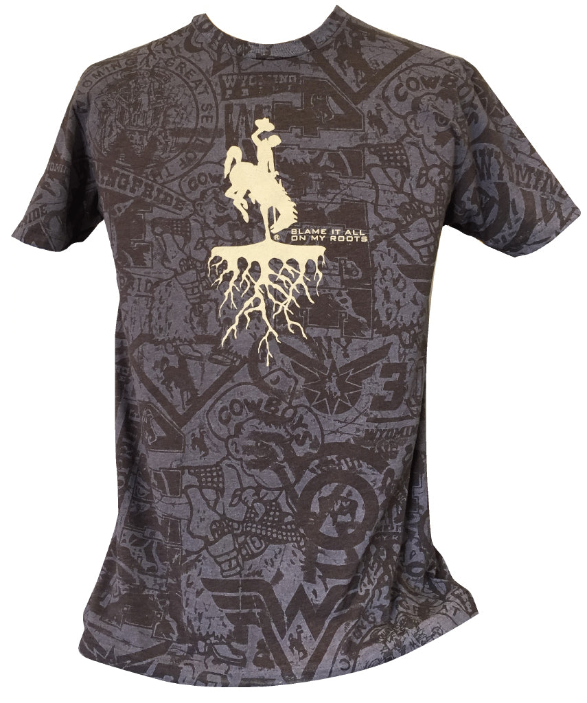 T062 -  Roots on WP Stained T-Shirt (Brown)