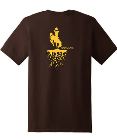 T021 Roots - Brown with Gold