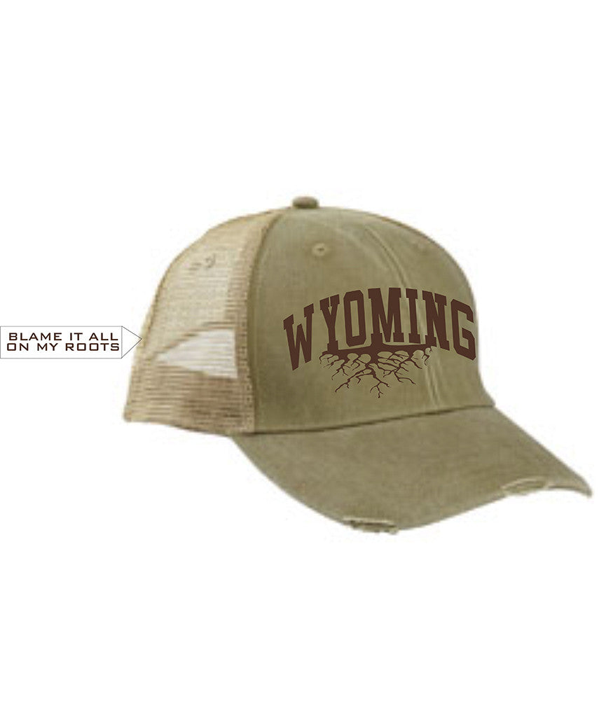 H025 Roots - Khaki Distressed Wyoming Hat