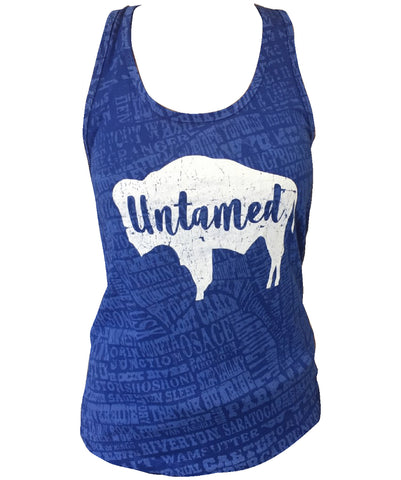 TA016 -  Towns Stained Untamed Ideal Racerback Tank (Royal)